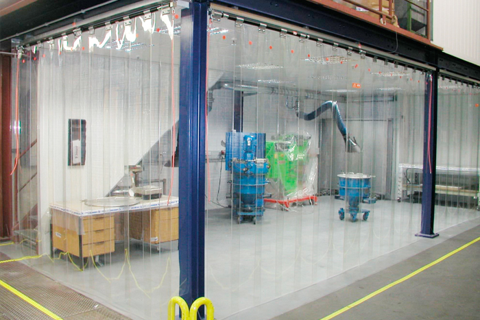 Cortina de pvc transparente keiotec portas autom ticas Cortinas plegables de pvc